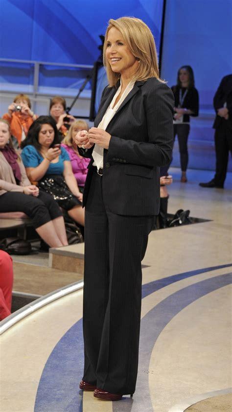 katie couric wears  tucker blouse   jcrew suit