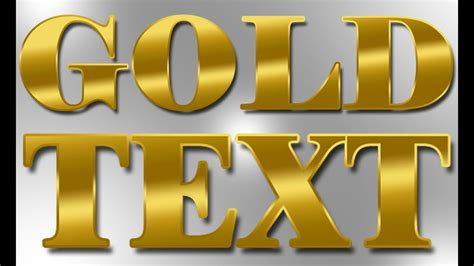 gold color photoshop realistic gold gradient photoshop text effect tutorial