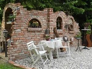 Fenster Sichtschutz Ideen : ruinenmauer mit fenster mediterrane gartenmauer mit ~ Michelbontemps.com Haus und Dekorationen