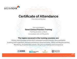 certificate of attendance seminar template - template training attendance certificate template