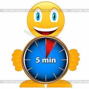 Fünf Minuten Tricks : f nf minuten mit einem l cheln clipart design ~ Watch28wear.com Haus und Dekorationen