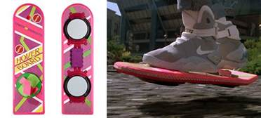 baby bottle candles back to the future hoverboard the green