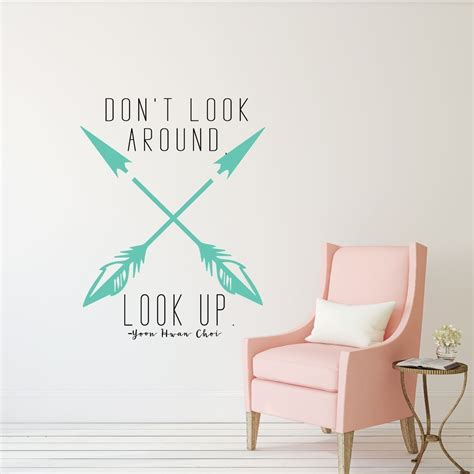 lds quotes don 39 t look around look up religious decals for home teen girl bedroom wall art
