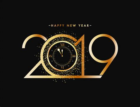Royalty Free Happy New Year 2019 Clip Art, Vector Images