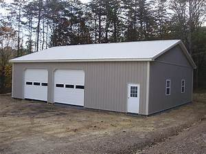 40 w x 50 l x 12 h id 390 total cost 27239 With 40 x 50 pole barn