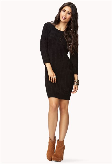 forever 21 sweater dress forever 21 contemporary essential cable sweater dress in