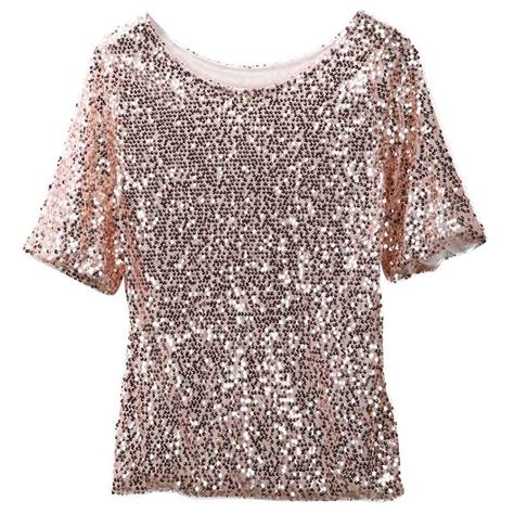 sequin blouses shiny sequin top tank 3 4 sleeve blouse bling