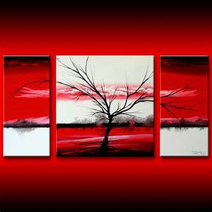 Black white and red wall art grasscloth wallpaper