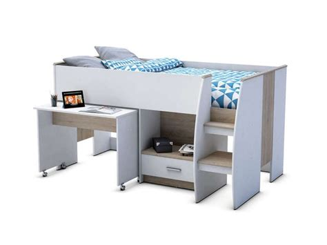 lit combiné bureau conforama lit surélevé 90x190 cm enzo 2 vente de lit bébé