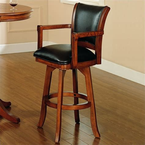 hillsdale park view 30 swivel arm medium brown oak bar