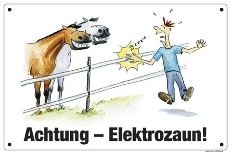 comic schild weide koppel achtung elektrozaun ebay