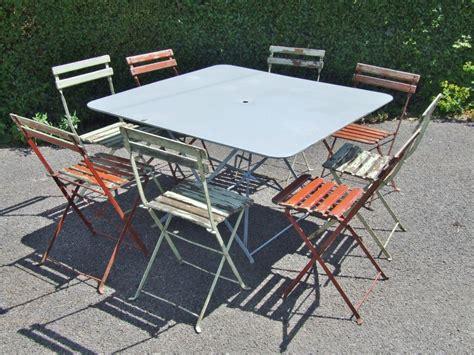g293 large vintage folding metal garden patio