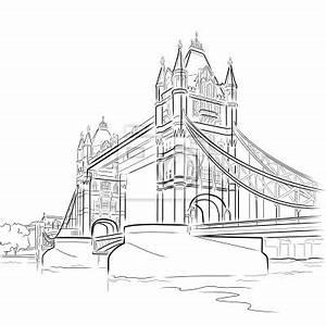 London Bridge Dessin : fototapeta vector rysunek tower bridge londyn wielka brytania na wymiar czarny nowoczesny ~ Dode.kayakingforconservation.com Idées de Décoration