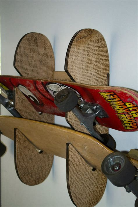 laser cutengraved skateboard rack  pictures instructables