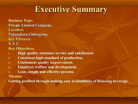 Hotel Resort Business Plan Executive Summary Company