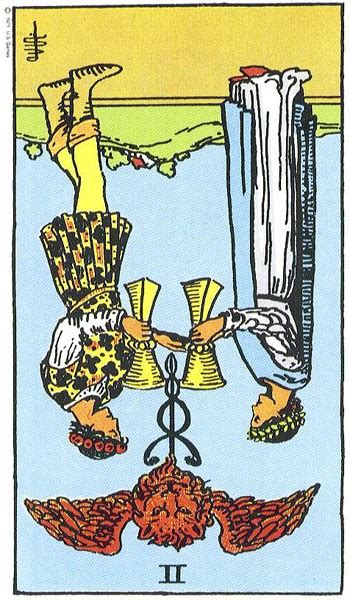 Two Of Cups  Truly Teach Me Tarot