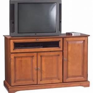 Meuble Tv Hifi : meuble tv hifi grand ecran plaqu merisier beaux meubles pas chers ~ Teatrodelosmanantiales.com Idées de Décoration