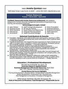 Best human resources manager resume example for Sample resume for experienced hr executive