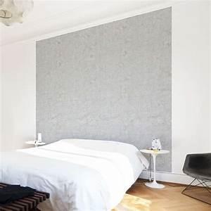 Béton Ciré Mural : papier peint intiss concrete wallpaper pale beton cir mural carr ~ Melissatoandfro.com Idées de Décoration