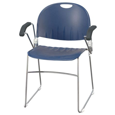 kfi seating compact stacker chair with arms 2100 arm