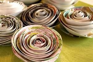 Comment Faire Une Rose En Papier Facilement : fabriquer facilement une rose en papier j 39 ai dit oui ~ Nature-et-papiers.com Idées de Décoration