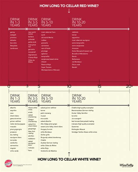 How Long To Cellar Wine (infographic