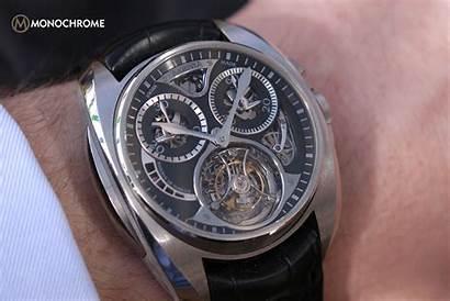 Akrivia Tourbillon Monopusher Chronograph Watches Specs Hands