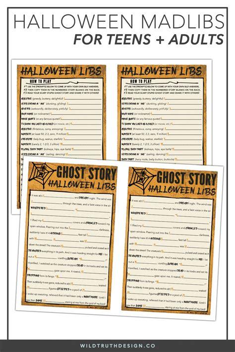 halloween mad libs high school classroom game activity