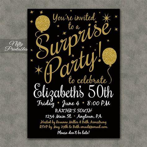 Best 25+ Surprise Birthday Invitations Ideas On Pinterest