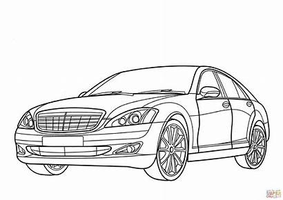 Mercedes Benz Class Lamborghini Veneno Coloring Drawing