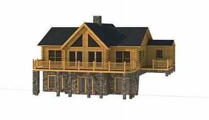 Hawkins Plans Log Elevation Homes Southland Cabin