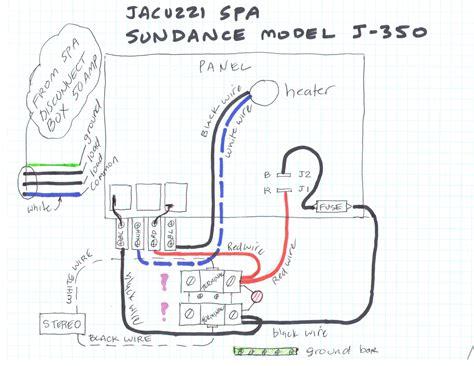 jacuzzi spa sundance model   wiring question
