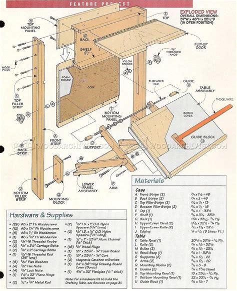 fold  drafting table plans woodarchivist