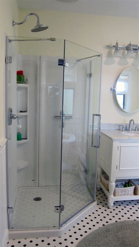ask the builder acrylic shower designs come a