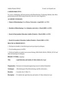 Microbiologist Resume Format by Resume Of Microbiologist Eliolera