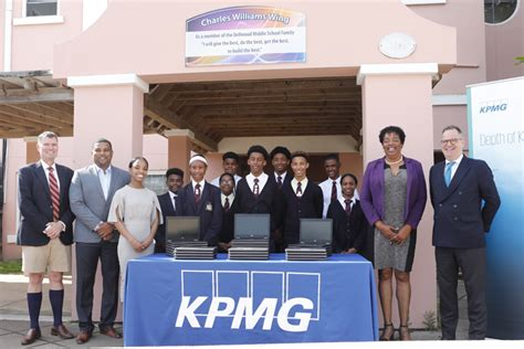 kpmg  bermuda supports dellwood middle school