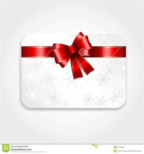 christmas gift card stock vector image of gift card 16724836