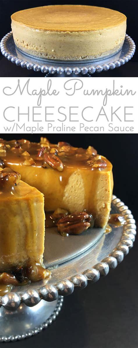 maple pumpkin cheesecake wmaple praline pecan glaze