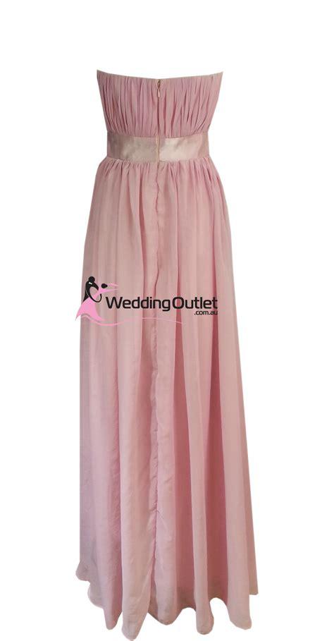 Dusty Pink Strapless Bridesmaid Dresses Style #V101 - WeddingOutlet.com.au