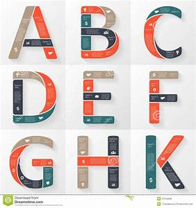 Vector Font Infographic  Diagram With Letters Stock Vector