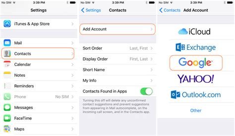 how to sync iphone contacts to gmail how to sync contacts to gmail sync iphone android 20343