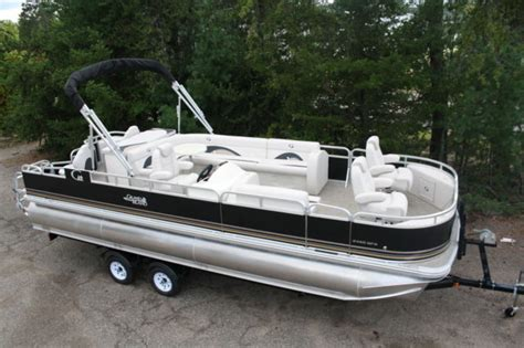 Pontoon Boats High Performance by New 2485 Fish And Rcre Tritoon Pontoon Boat With High