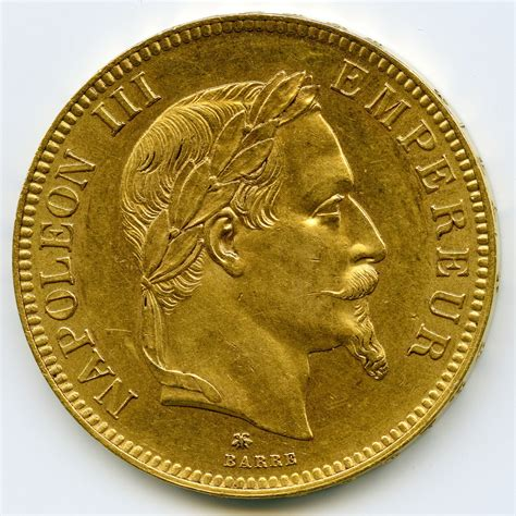 bureau de change rennes 35 napoléon iii 100 francs 1862 a