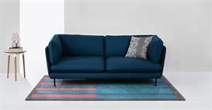 Canapé D Angle Bleu Pétrole : wes canap trois places bleu p trole ~ Teatrodelosmanantiales.com Idées de Décoration
