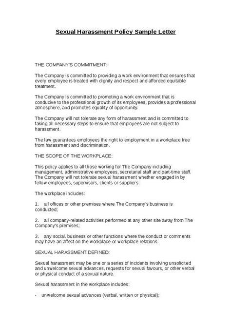 employee harassment letter sample sample format
