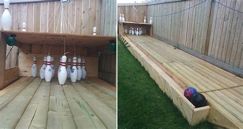 build   backyard bowling alley