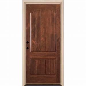 Feather river doors 375 in x 81625 in 2 panel plank for Home depot doors exterior