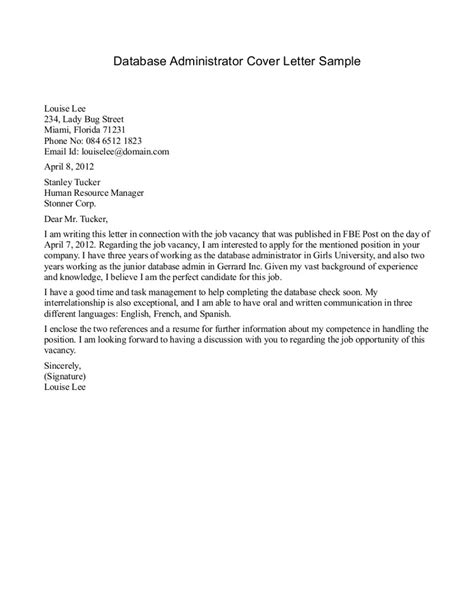 Cover Letter Healthcare by Administration Cover Letter