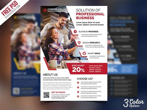 Colorful Corporate Business Flyer Template Psd File Free Corporate Business Flyer Psd Psd