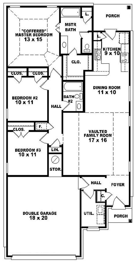 single 5 bedroom house plans 654103 one 3 bedroom 2 bath traditional